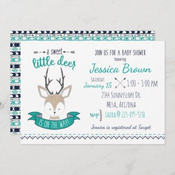 Little Deer Baby Shower Invitation