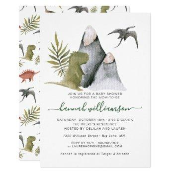 Little Dinosaur Baby Shower Invitation