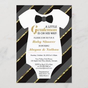 Little Gentleman Baby Shower , Faux Gold