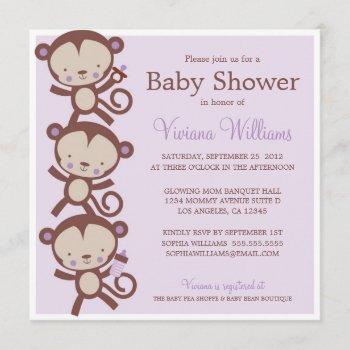 Little Girl Monkeys   Baby Shower