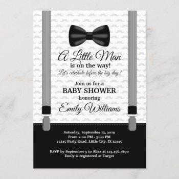 Little Man Baby Shower Invitation Bow Tie Shower