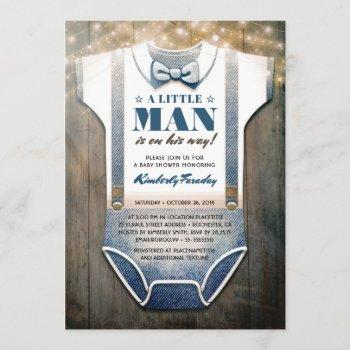 Little Man Baby Shower  | Rustic Country