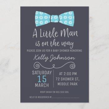 Little Man Bow Tie Baby Shower Invitation