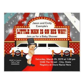 Little Man Limousine Movie Star Baby Shower Invitation