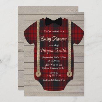 Little Man Lumberjack Boy Baby Shower Invitation