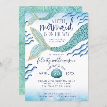 Little Mermaid Baby Shower Invitation Mermaid Baby