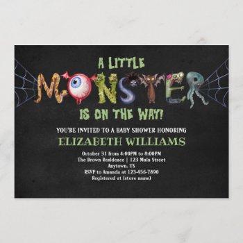 Little Monster Letters Halloween Baby Shower