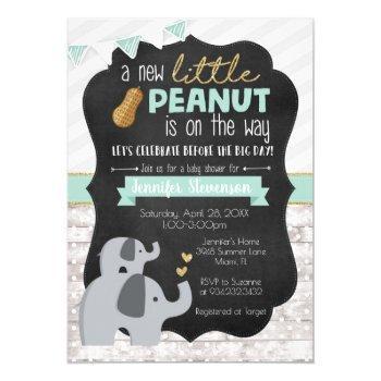 Little Peanut Baby Shower Invitation