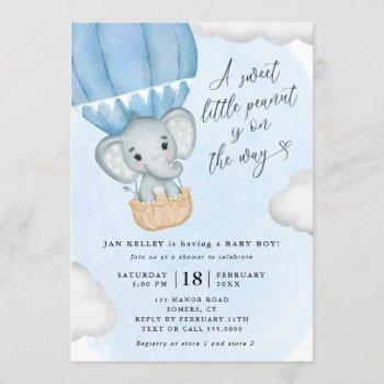 Little Peanut Blue Elephant Baby Shower