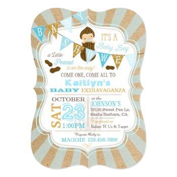 Little Peanut Carnival Baby Shower Invitation