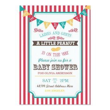 Little Peanut Circus Baby Shower Invite
