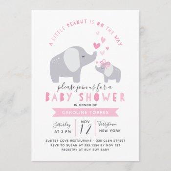 Little Peanut Elephant | Baby Shower | Pink