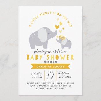 Little Peanut Elephant | Baby Shower | Yellow