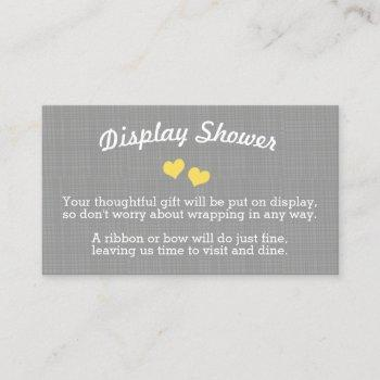 Little Peanut Yellow Baby Shower Display Card