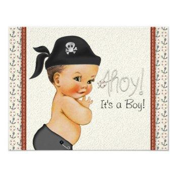 Little Pirate Baby Shower Invitation