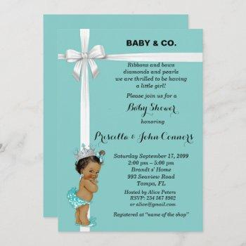 Little Princess Baby Shower Invitation,mint Invitation