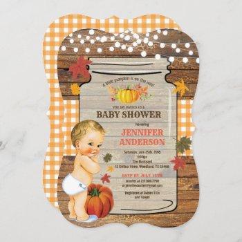 Little Pumpkin Baby Shower  Rustic Fall
