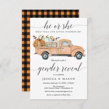 Little Pumpkin Truck Gender Reveal