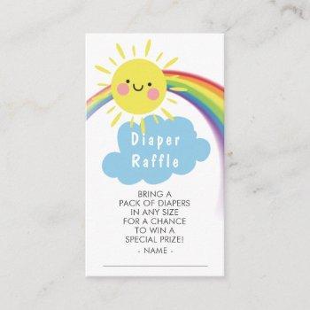 Little Ray Of Sunshine Diaper Raffle Ticket Enclosure Card