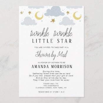 Little Star Baby Shower By Mail Invitation