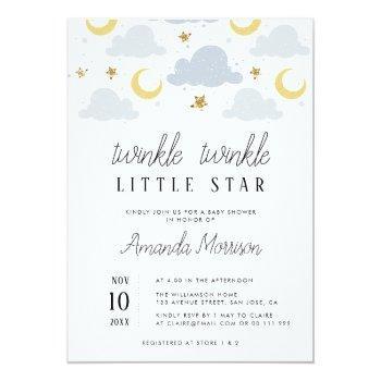 Little Star Baby Shower Invitation