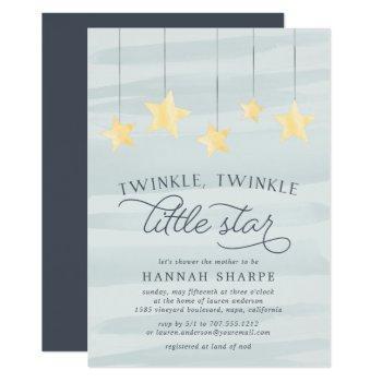 Little Star Baby Shower Invitation | Mint