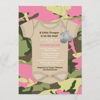 Little Trooper Army Military Girl Camo Baby Shower