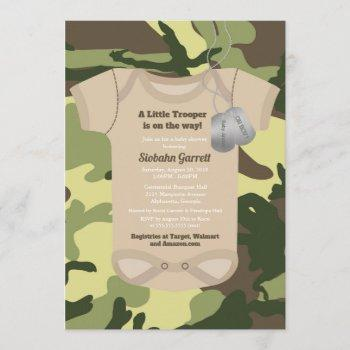 Little Trooper Army Or Military Camo Baby Shower