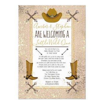 Little Wild One Rustic Western Baby Shower By Mail Invitation