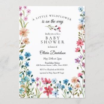 Little Wildflower Baby Shower
