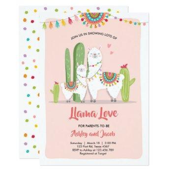 Llama Baby Shower Invitation Llama Love Fiesta