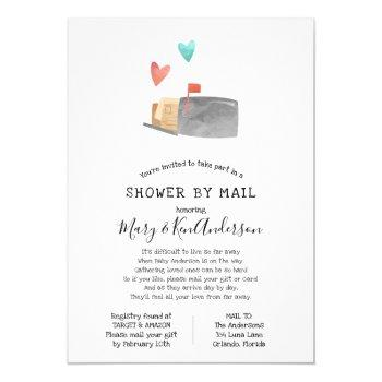 Long Distance Baby Shower Invitations Mother Owl
