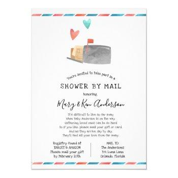 Long Distance Baby Shower By Mail With Borders Invitation