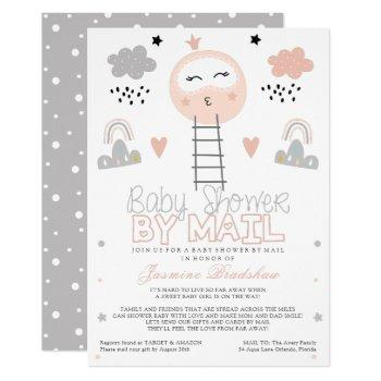 Long Distance Baby Shower Pathway To The Moon Invitation