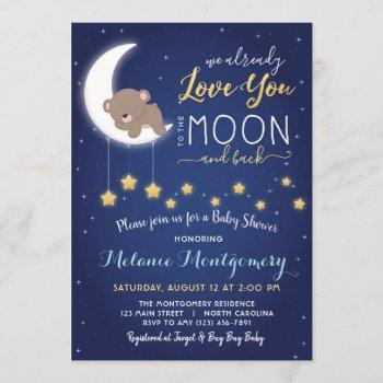 Love You The Moon And Back Baby Shower