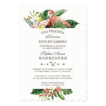 Luau Tropical Flowers Invitación De Baby Shower Invitation