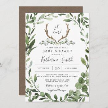 Lumberjack Deer Baby Shower Invitation