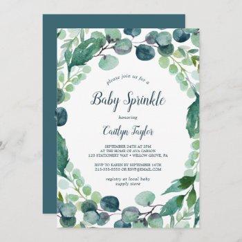 Lush Greenery And Eucalyptus Baby Sprinkle Invitation