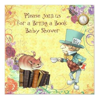 Mad Hatter & Cheshire Cat Bring A Book Shower Invitation