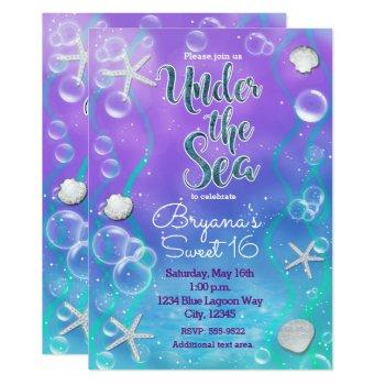 Magical Under The Sea Birthday Party Invitation