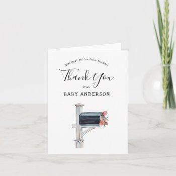 Mailbox Long Distance Shower Thank You Card