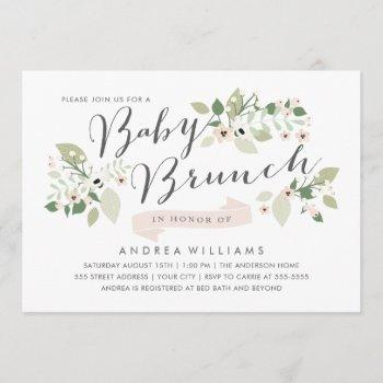 Meadow Blooms Baby Brunch Invite
