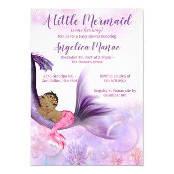 Mermaid Baby Shower Invitation Baby Girl
