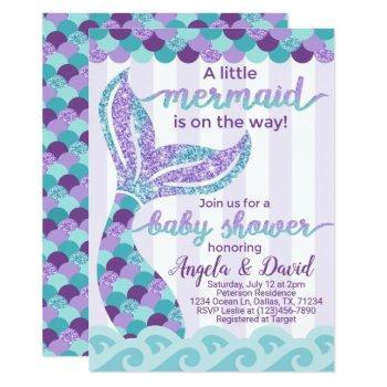 Mermaid Baby Shower Invitation Invite
