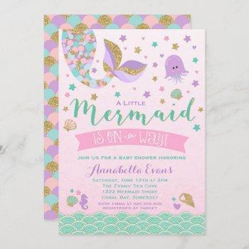Mermaid Baby Shower  Pink Purple Teal