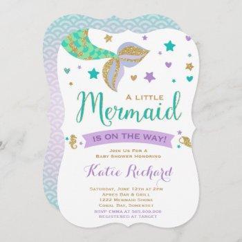 Mermaid Baby Shower  Teal Purple Gold