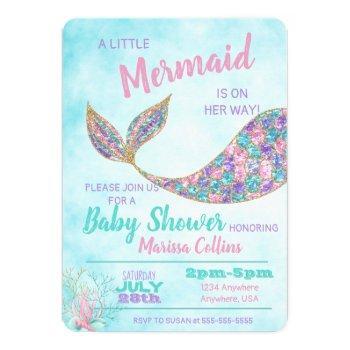 Mermaid Baby Shower Invitation, Under The Sea Invitation