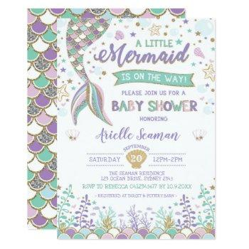 Mermaid Baby Shower Under The Sea Invite Beach