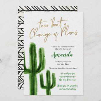 Mexican Cactus Postponed Baby Shower Announcement