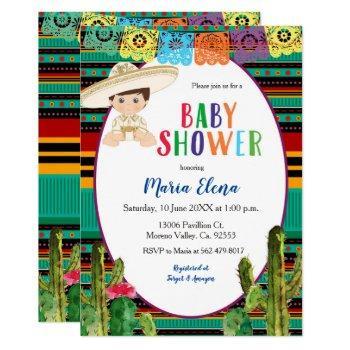Mexican Fiesta Boy Baby Shower Invitation